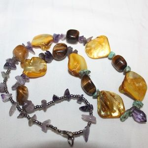 Jewelry - Genuine Polished Stone Handmade Necklace